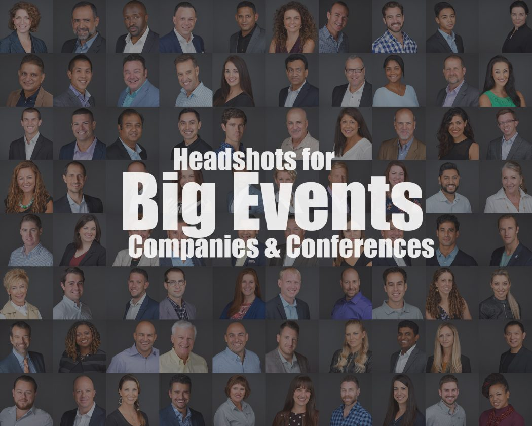 Headshots for big events companies & conferences